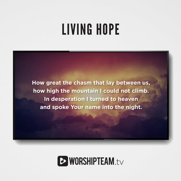 Living Hope Worship Resources | WorshipTeam.tv