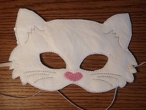 Cute kitten face costume