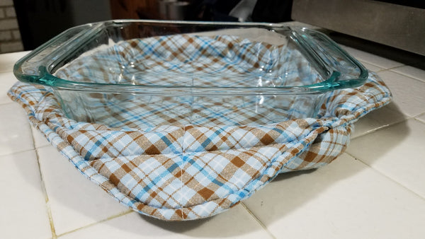 Microwave Bowl Cozy, fabric bowl, Plate size