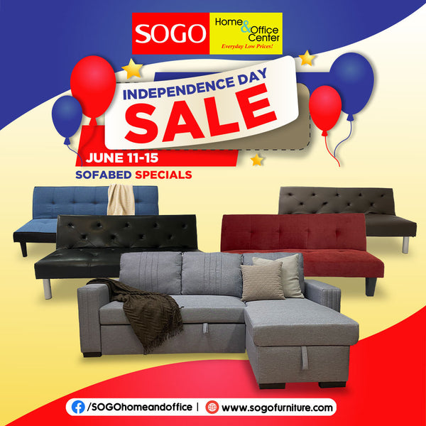 SOGO FURNITURE- MAKE YOUR STYLISH SOFA AND SOFABEDS WITH SOGO INDPENDECE DAY SALE, VISIT OUR STORE AND SHOP ONLINE FOR MORE AFFORDABLE SOFABED IN THE PHILIPPINES