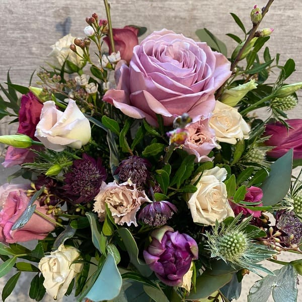 In the Pinks The Florist Choice Hand tied Fresh Flower Bouquet.
