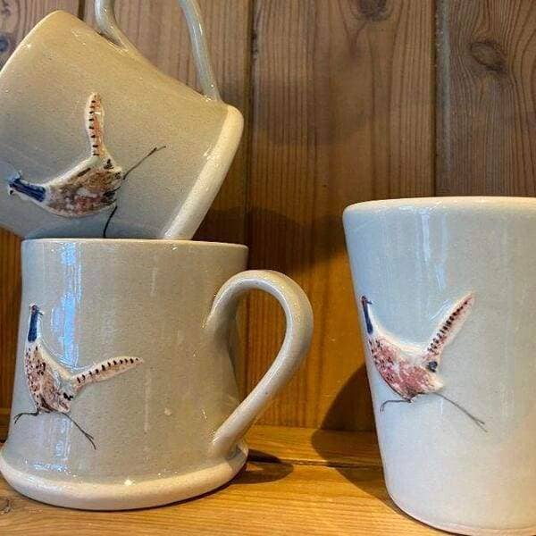 Lovely Hand made Hogben Mug available in Grey and Gream