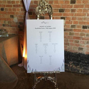 This is a classic to display your table planner, add flowers for a wow factor