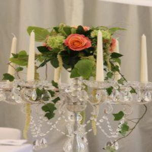 Add flowers to compliment this Beautiful Centre Piece