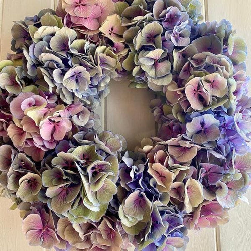 lovely Hand Made Hydrangea Wreath