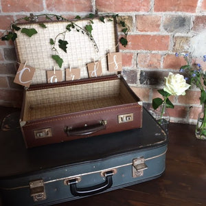 Vintage Suitcase stack - for cards