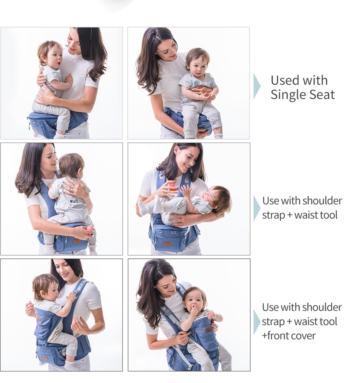 3 In 1 Ergonomic Baby Carrier different use
