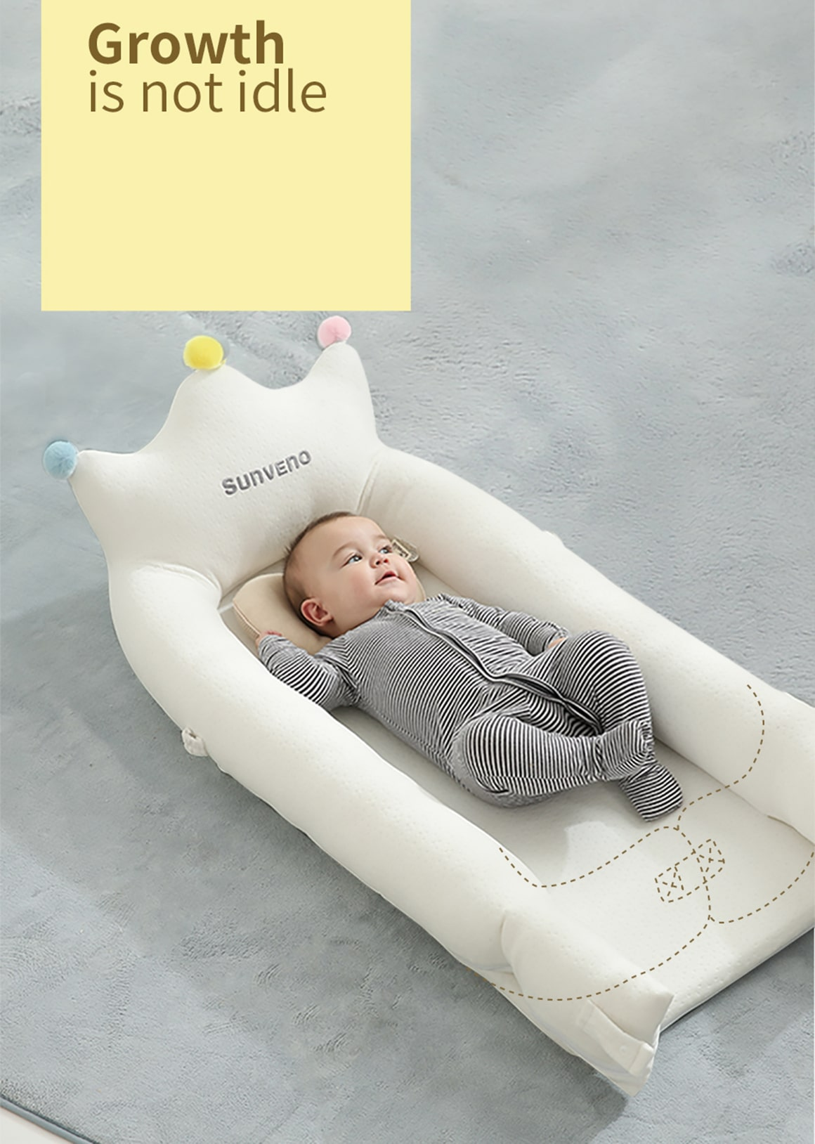 Soft Cotton Baby Bed