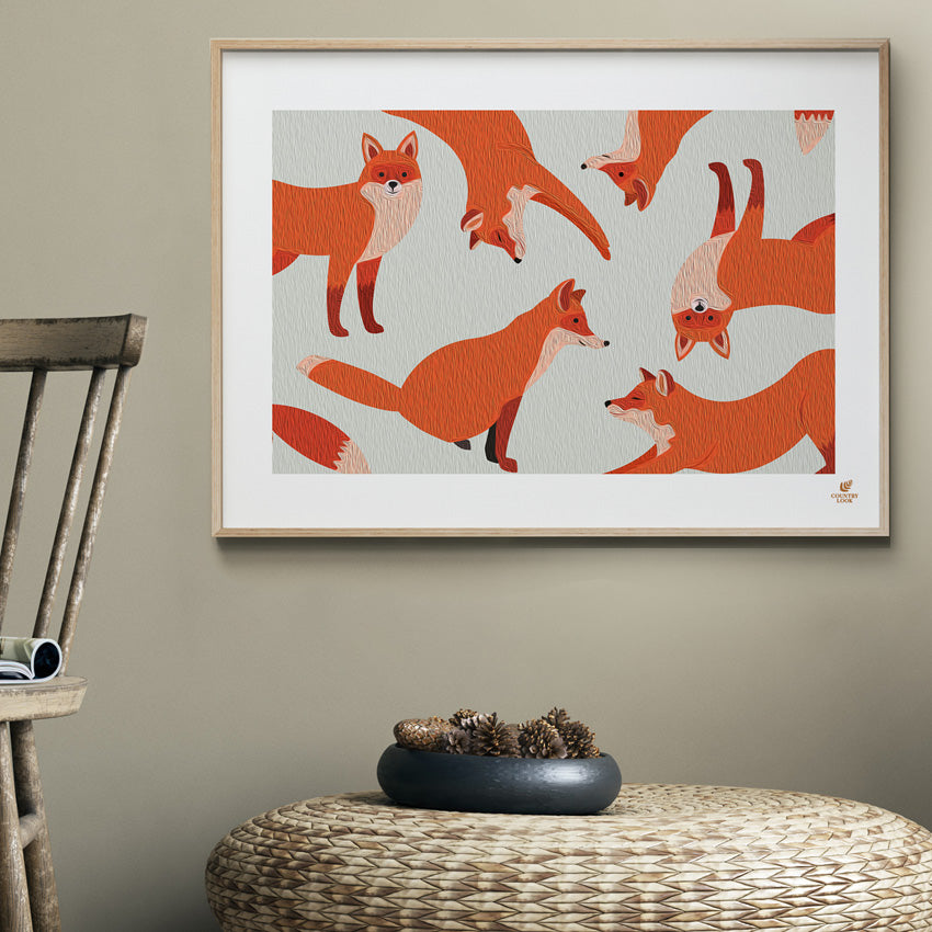 Foxes Art Work