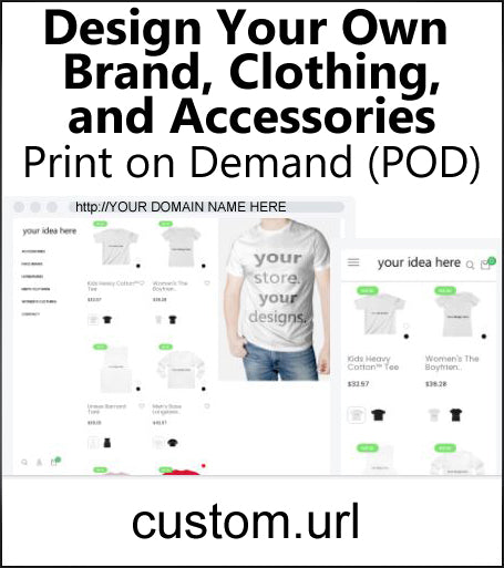 Custom Clothing & Products Dropshipping Store for Sale
