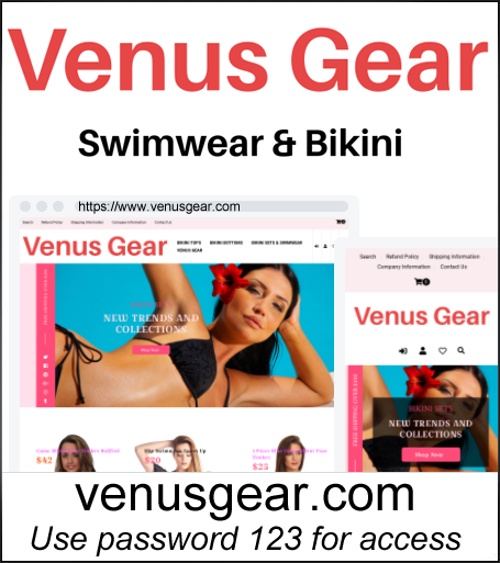 Women's Bikini & Swimwear Dropshipping Store for Sale