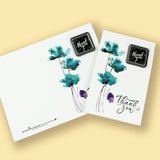 Thank You Cards White with Chocolate (4pks)