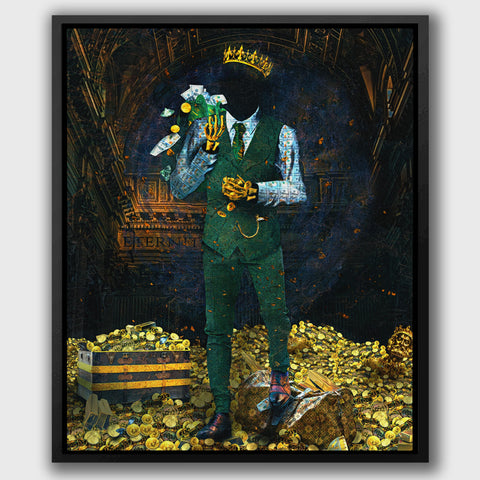Time is Money Bitcoin King Wall Artwork painted by Jesse Johnson