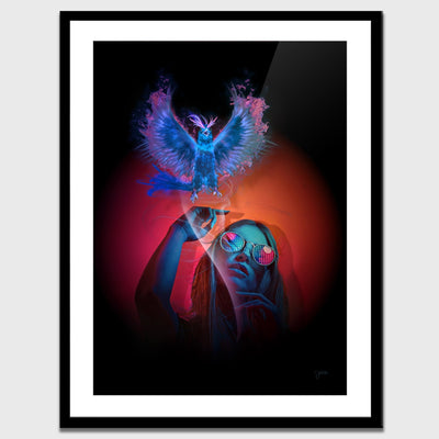 Blue Bird Semi-gloss Print - Thedopeart
