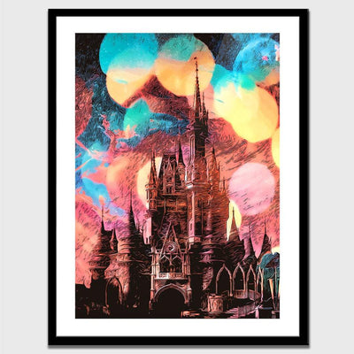 Castle Mirage Semi-gloss Print - Thedopeart