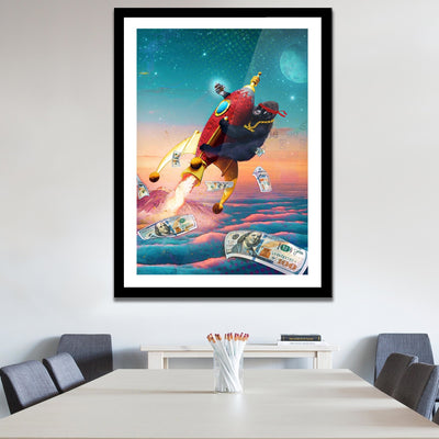 Diamond Hands To the Moon Semi-gloss Print - Thedopeart Prints