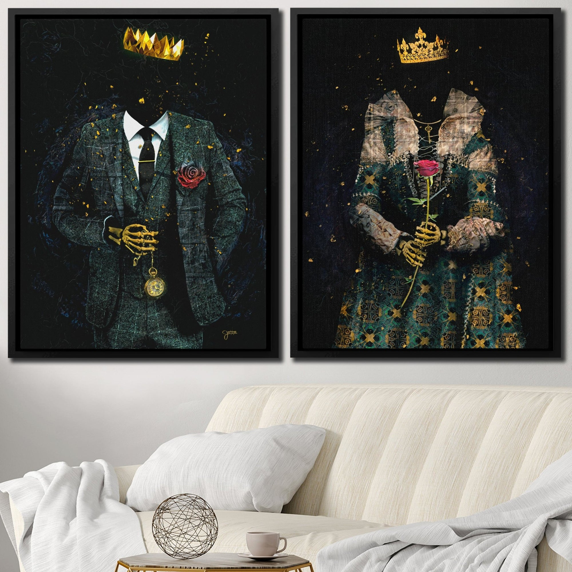 Eternal Royalty King and Queen Set - Thedopeart Canvas