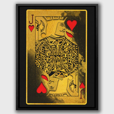 Gold Jack of Hearts - Thedopeart