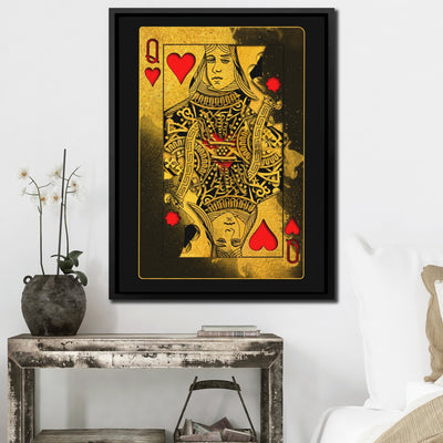 Gold Queen of Hearts - Thedopeart Canvas
