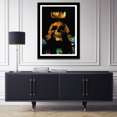 Gold Skull Semi-gloss Print - Thedopeart Prints