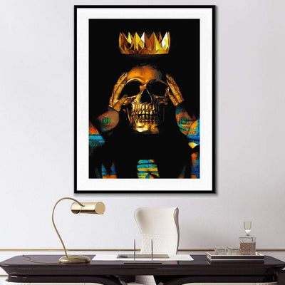Gold Skull Semi-gloss Print - Thedopeart