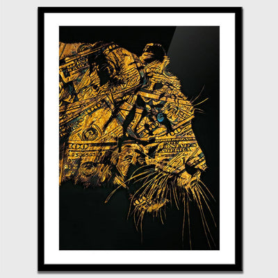Golden Hype Beast Semi-gloss Print - Thedopeart Prints