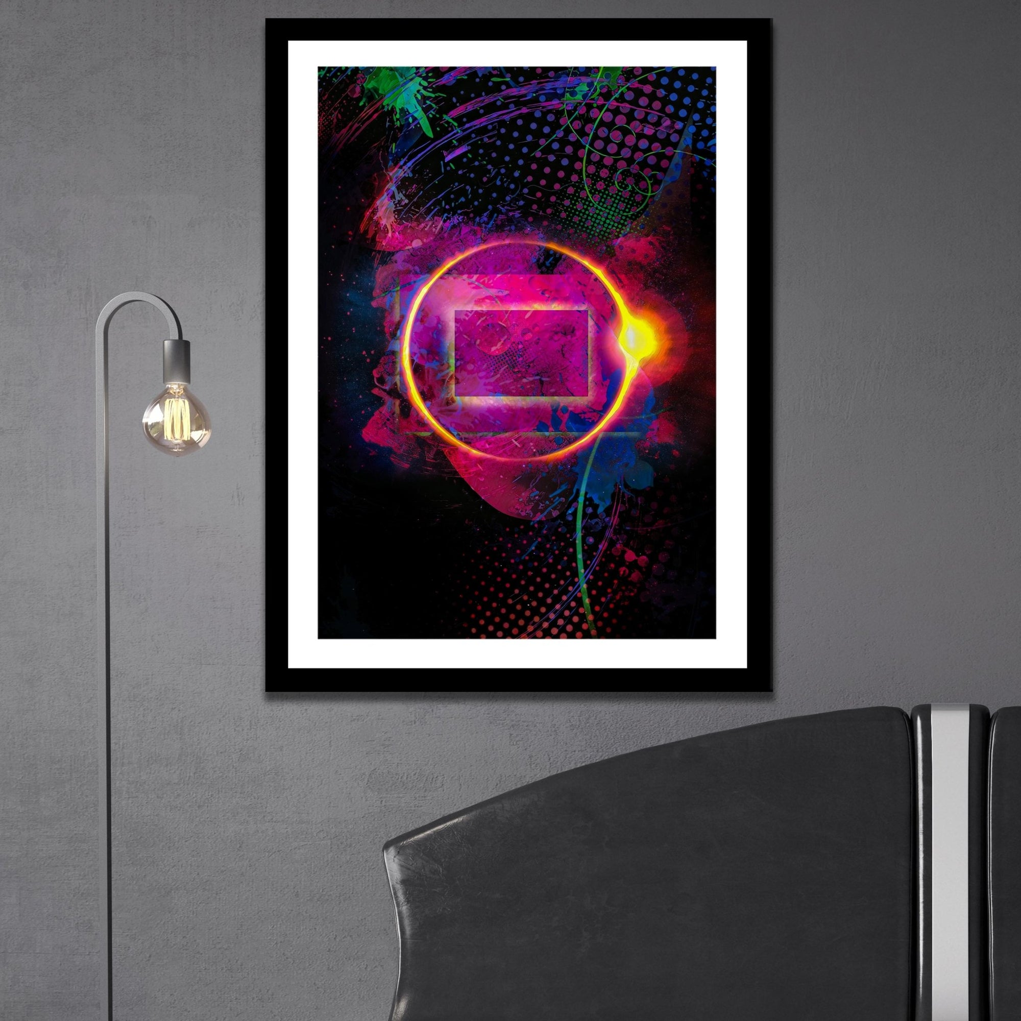 Golden Ring Semi-gloss Print - Thedopeart