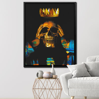 Midas Touch Skull King - Thedopeart Canvas