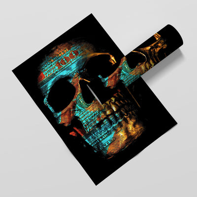 Money Skull Semi-gloss Print - Thedopeart