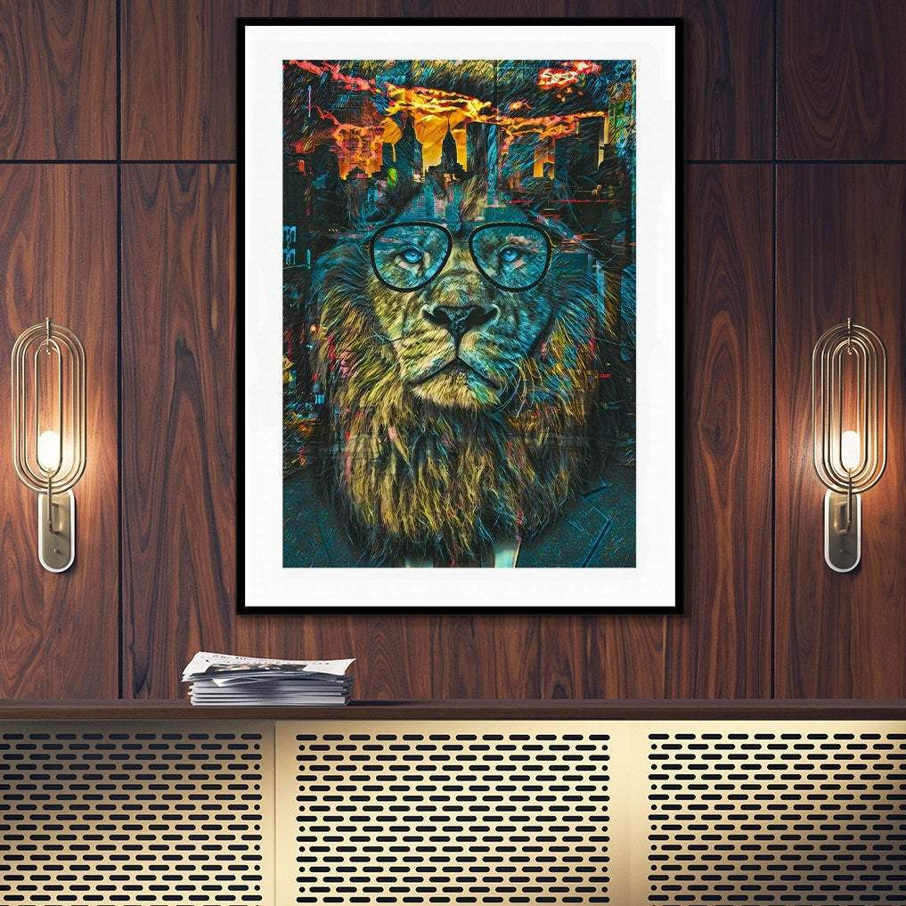 NYC Business Lion Semi-gloss Print - Thedopeart Prints