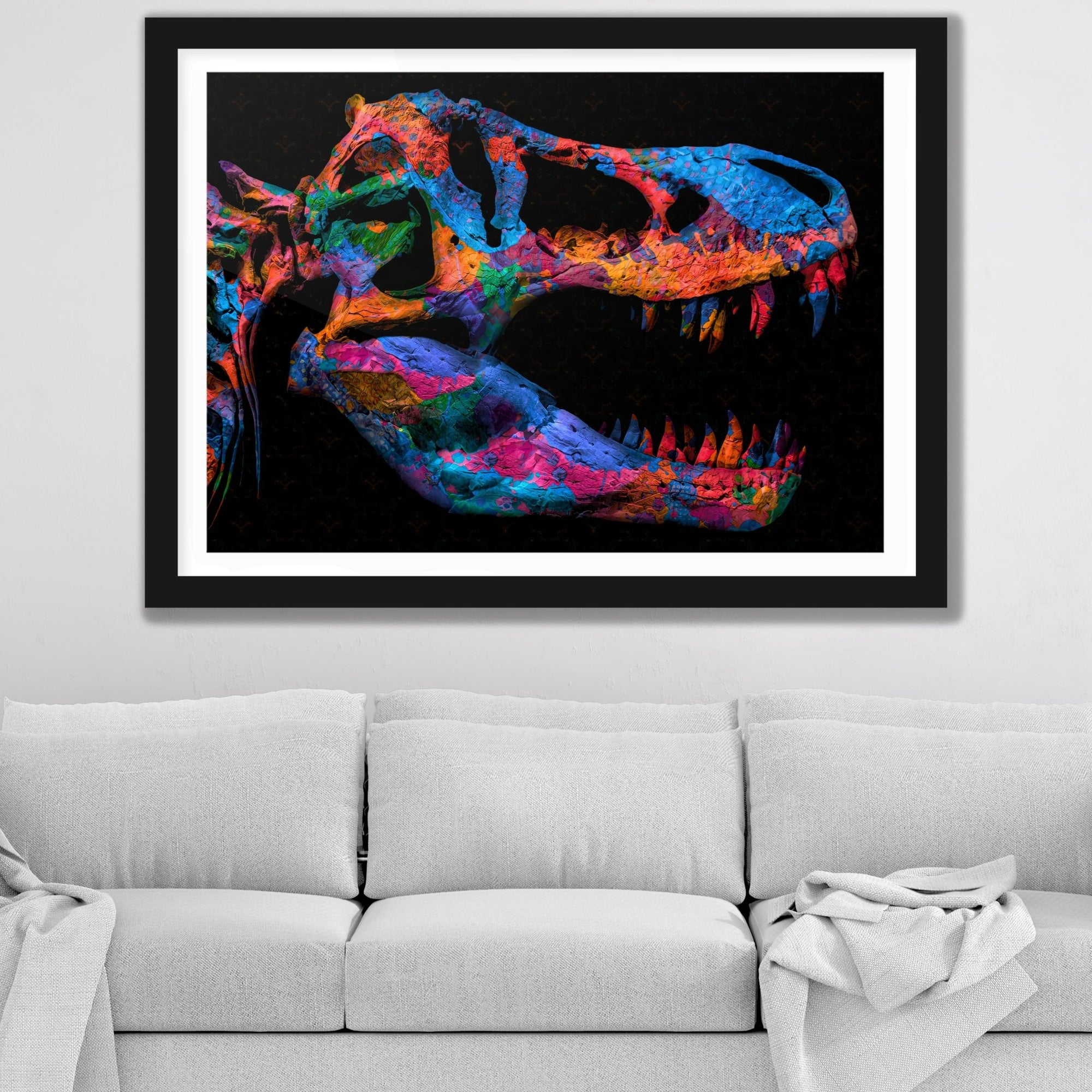 Painted T-Rex Semi-gloss Print - Thedopeart