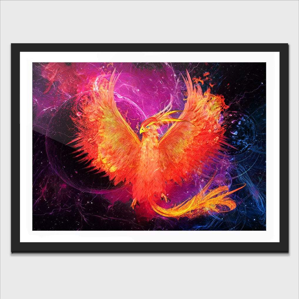 Phoenix Rebirth Semi-gloss Print - Thedopeart