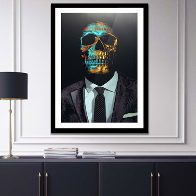 Suited Skull Semi-gloss Print - Thedopeart