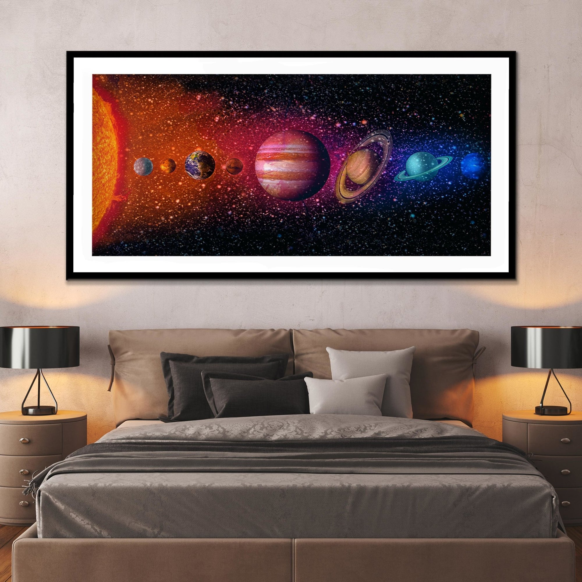 The Solar System Semi-gloss Print - Thedopeart