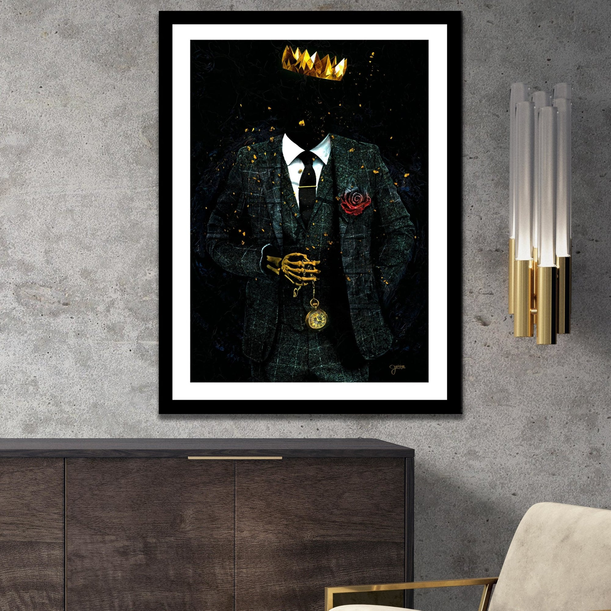 Time is King Semi-gloss Print - Thedopeart Prints