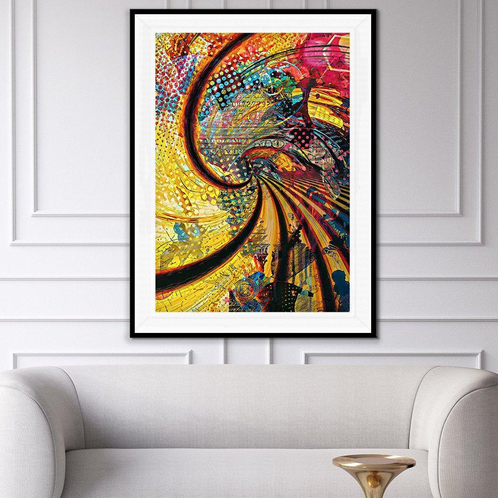 Trippy Spiral Semi-gloss Print - Thedopeart