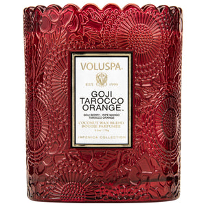 GOJI TAROCCO ORANGE - Scalloped Edge Candle