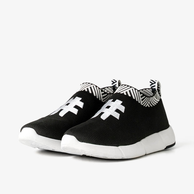 Men's Coffee Sneakers - Rebel Black