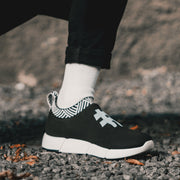 Women's Coffee Sneakers - Rebel Black
