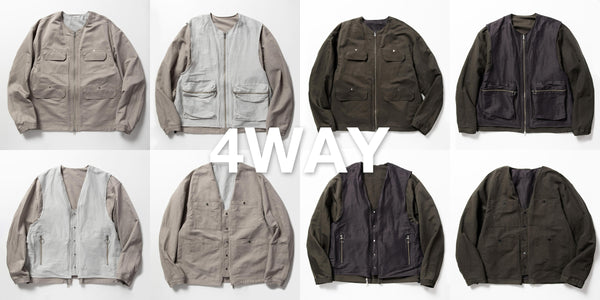 DUALITY CLOTH REVERSIBLE 4WAY JKT