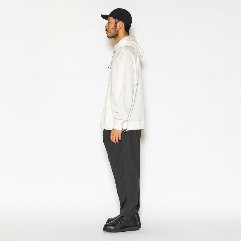 Ice Linen Loopback Hoodie (Off White) / MW-CT21101