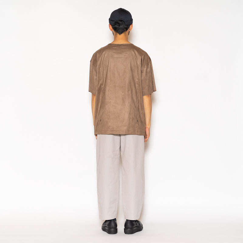 Suede Sack Tee (Brown) / MW-SCT20301