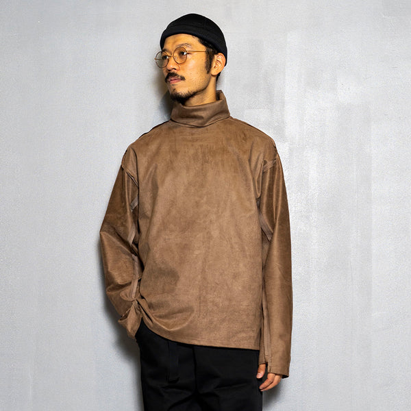 Suede Split Sleeve Turtleneck(Brown)/MW-CT20202