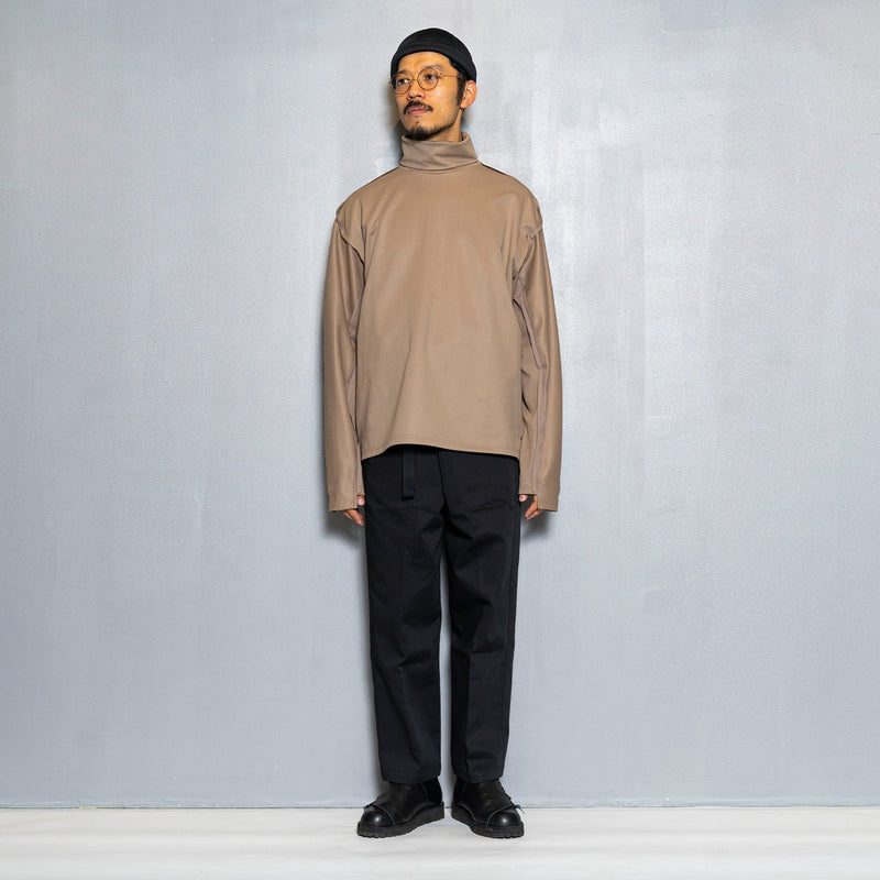 Twill Knit Turtleneck(Beige)/MW-CT20203