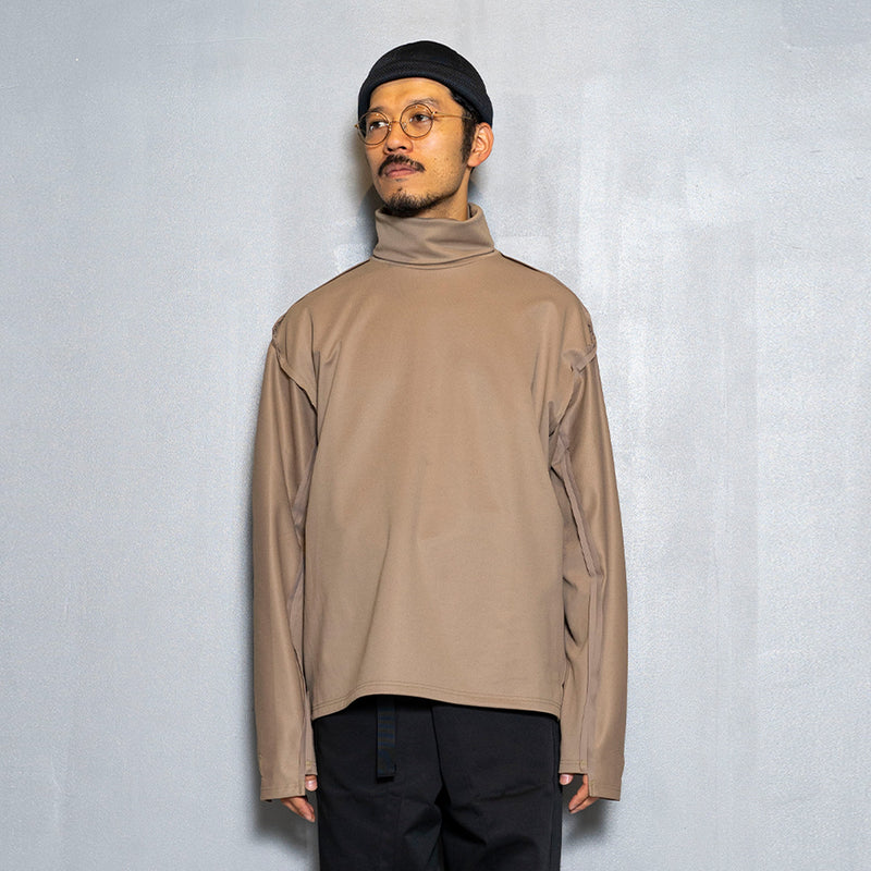 Twill Knit Turtleneck(Nude)/MW-CT20203