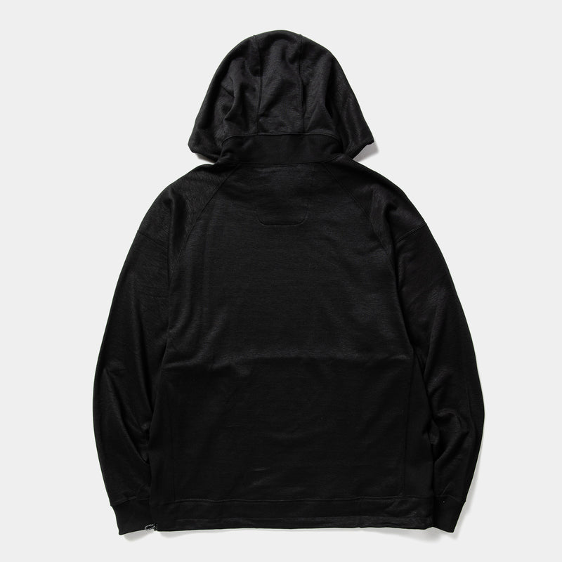 Ice Linen Loopback Hoodie (Off Black) / MW-CT21101