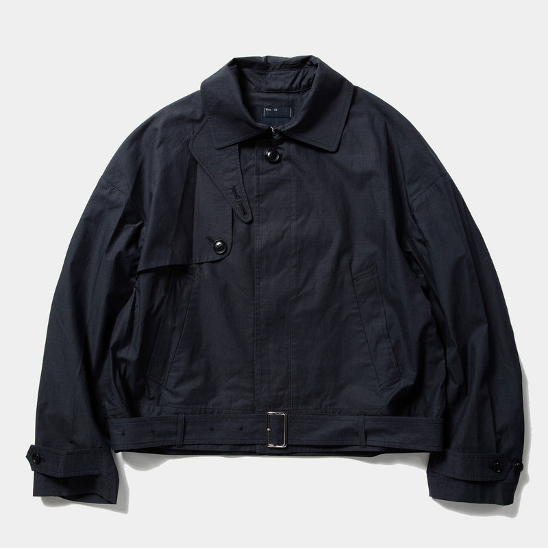 Iridescent Split Over Coat (Navy) / MW-JKT21105