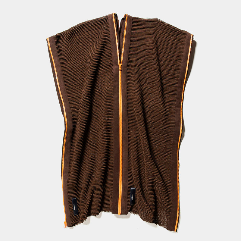 Slit Knit Unit Stole(Brown)/MW-KT20202