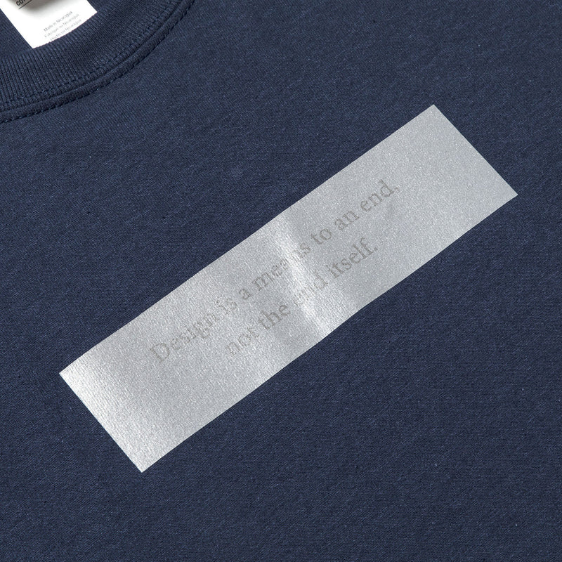 Lenticular Reflect Logo Tee (Navy) / MW-CT20103