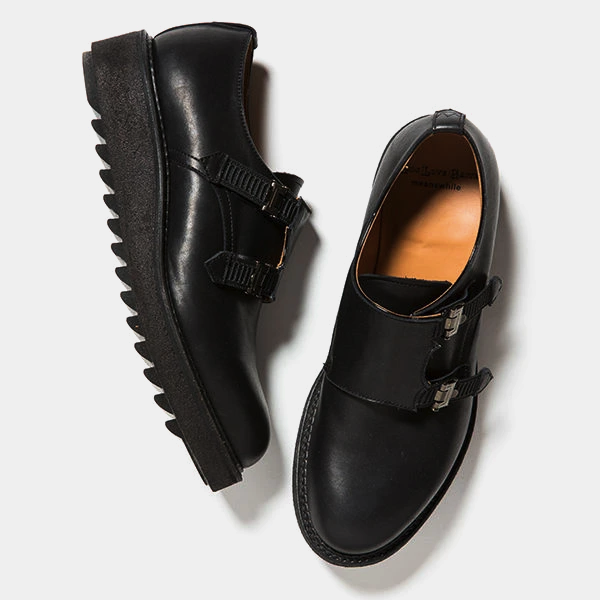 "Double Monk ""Conceal"" (OFF BLACK) /  MW-SHOES18201"